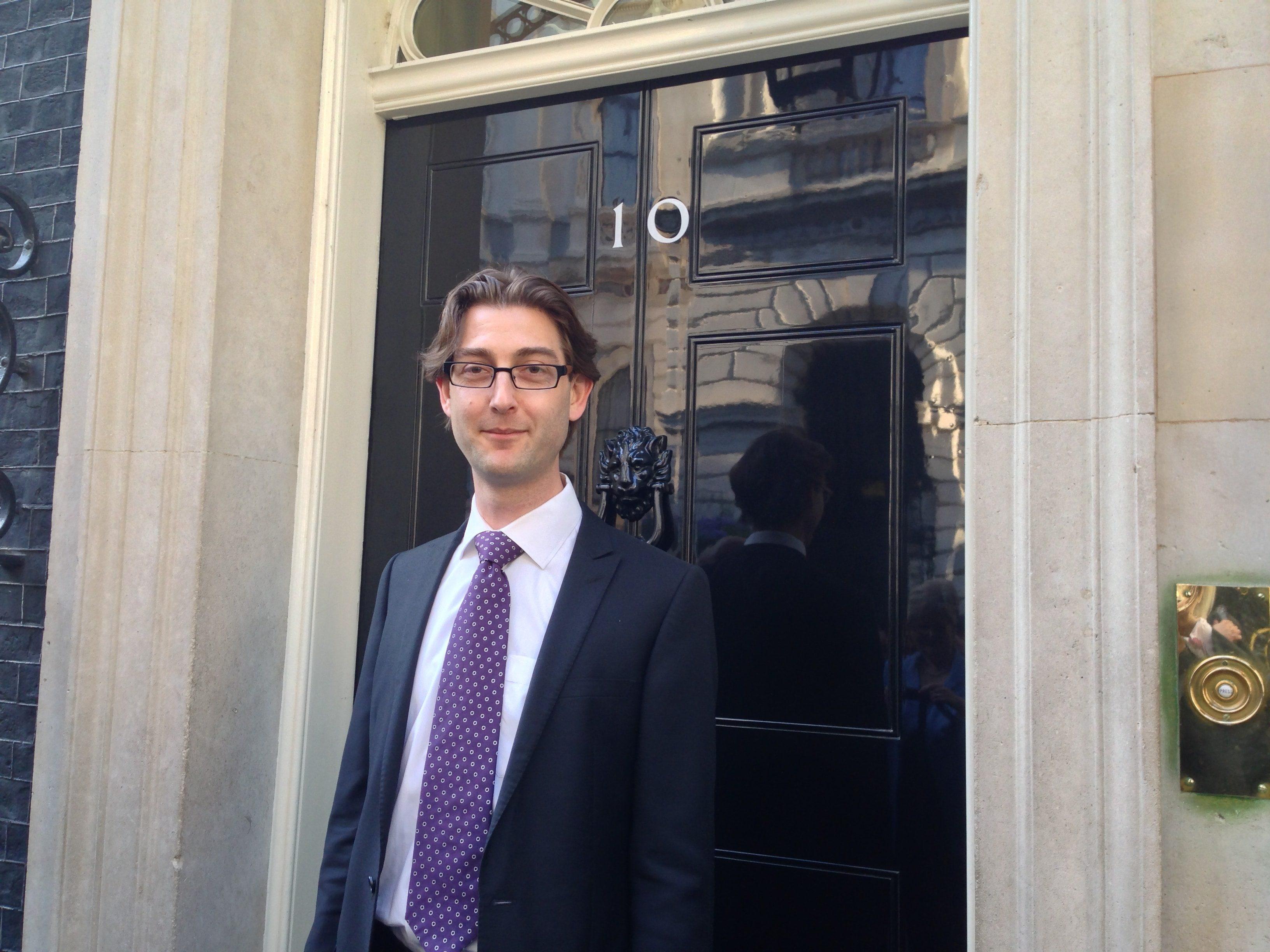 David Miles at 10 Downing Street