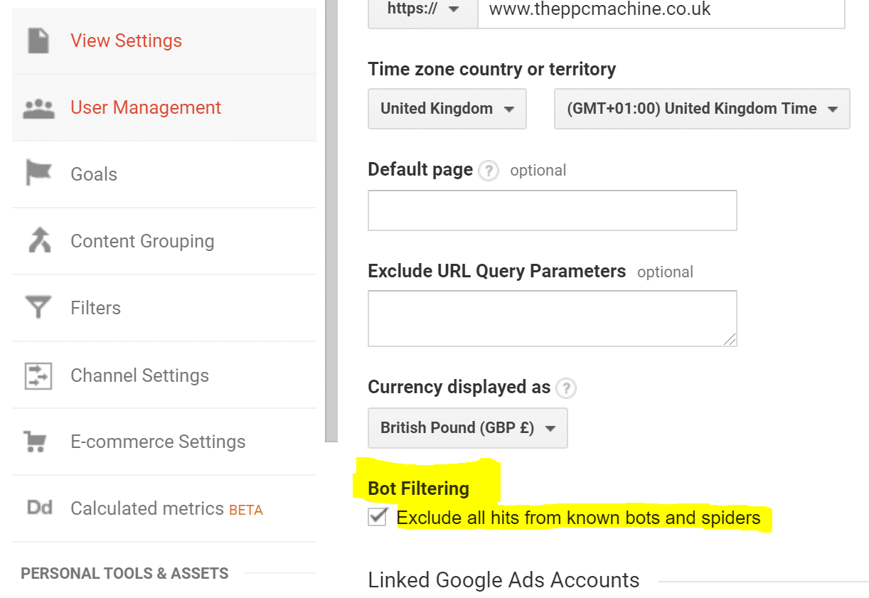 Exclude known bots and spiders in Google Analytics