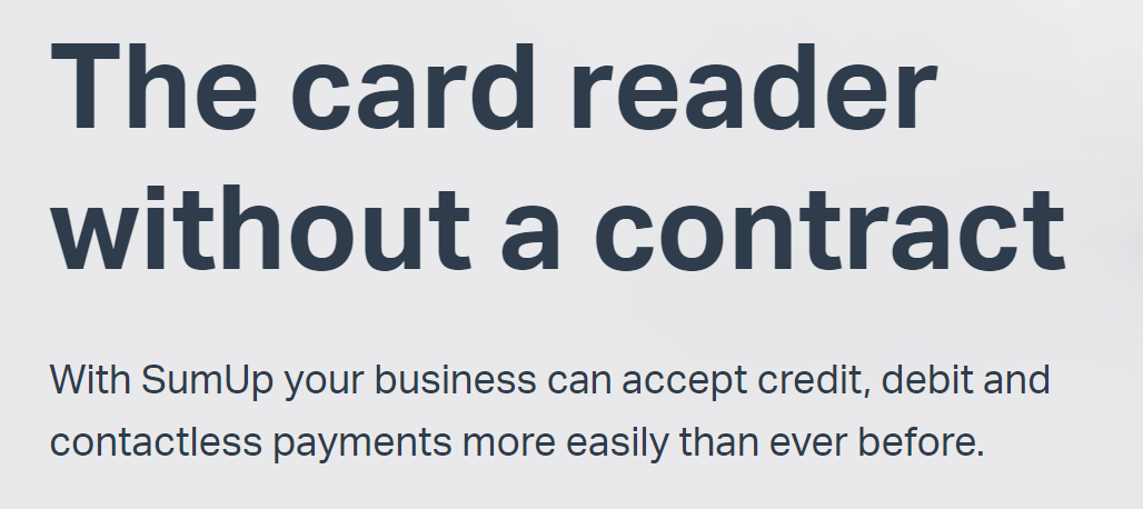 SumUp: the card reader without a contract