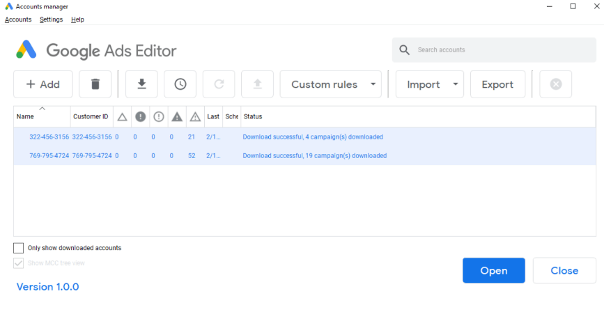 Google Ads Editor allows you to create and edit Google Ads campaigns offline