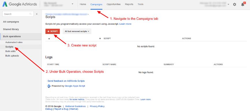 Google Ads scripts can automate various campaign optimisation tasks