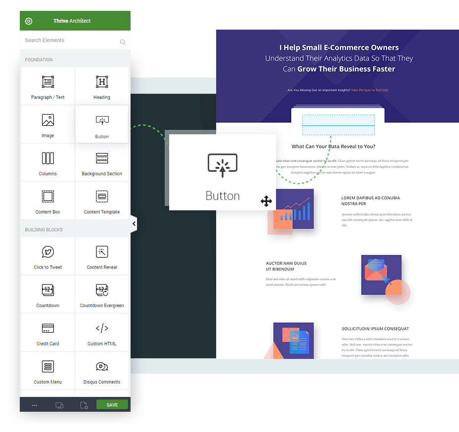 Thrive Themes is a collection of WordPress plugins that make it easy to build high-converting landing pages for Google Ads campaigns
